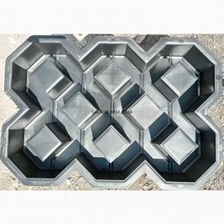 Форма для тротуарной плитки решетка газонная под траву