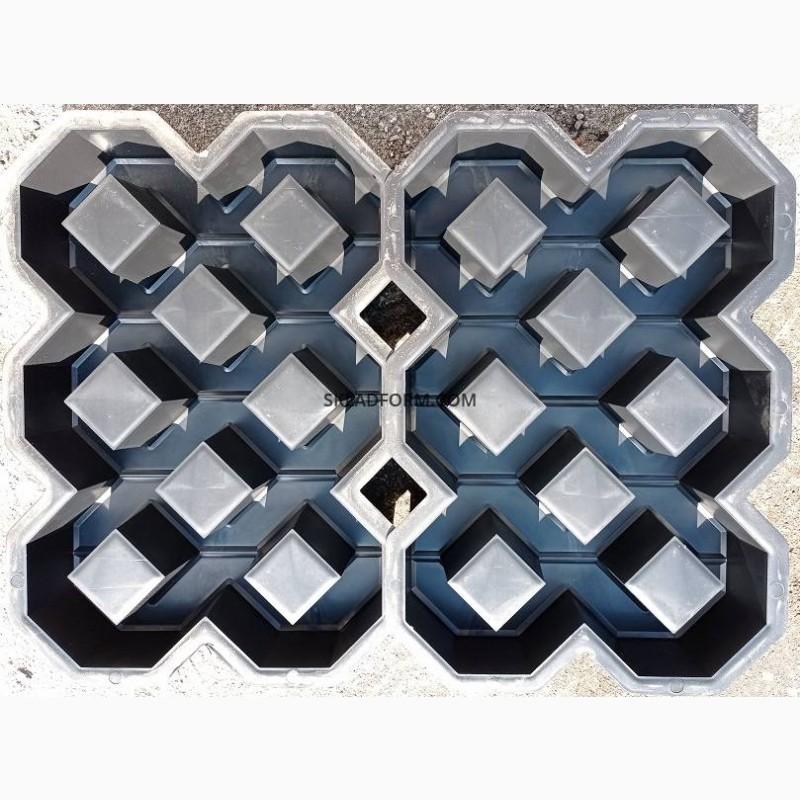 Фото 2. Форма для тротуарной плитки решетка газонная под траву