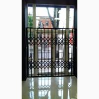 Решетки раздвижные металлические на окна двери витрины Производство и установка