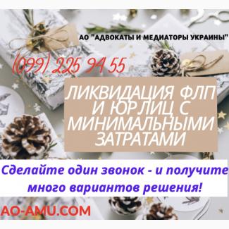 Ликвидация ФОП и фирмы оперативно с мин.затратами