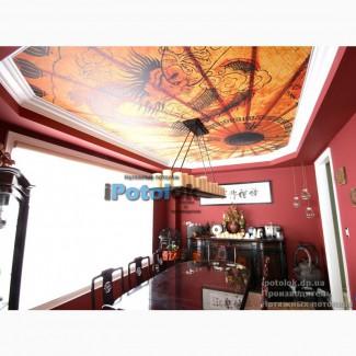 Двухъярусный натяжной потолок с подсветкой Кривой Рог