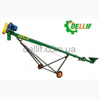 Шнековый зерновой погрузчик 6 м (380 В) Деллиф