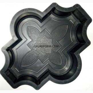 Формы тротуарной плитки Клевер 4, 5 см узорный