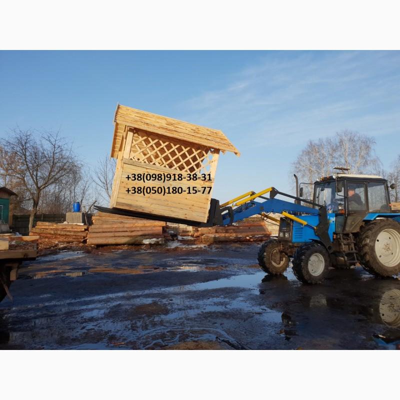 Фото 2. Вила для поднятия Евро-поддонов на трактор Т-40, ЮМЗ, МТЗ. Погрузчик КУН