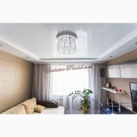 Натяжной одноуровневый потолок с подсветкой в Кривом Роге